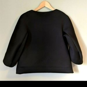 COS Black Structured Oversize Long Sleeve Top with Pockets XS